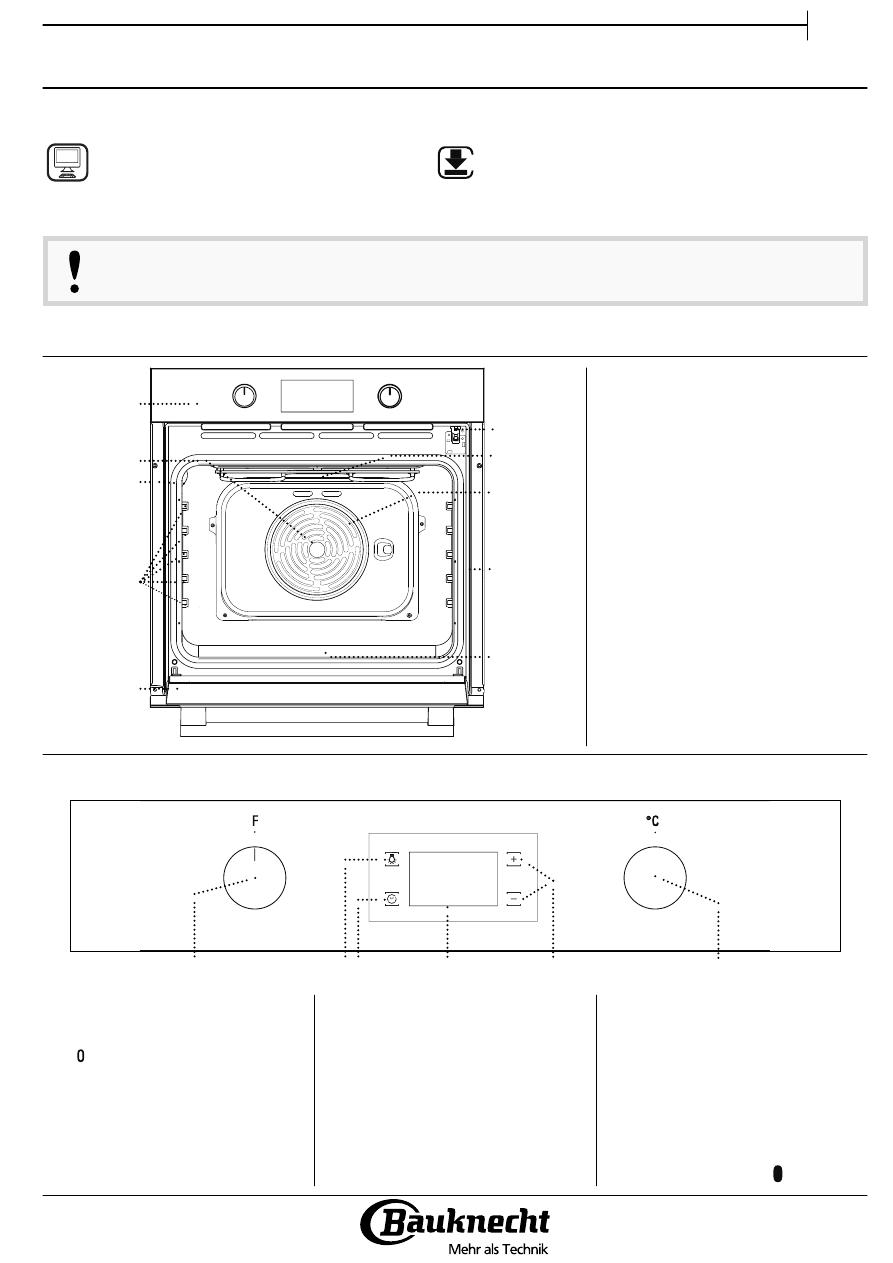 Gebrauchsinformation Datenblatt Zu Bauknecht Bak3 Kp8v In Backofen