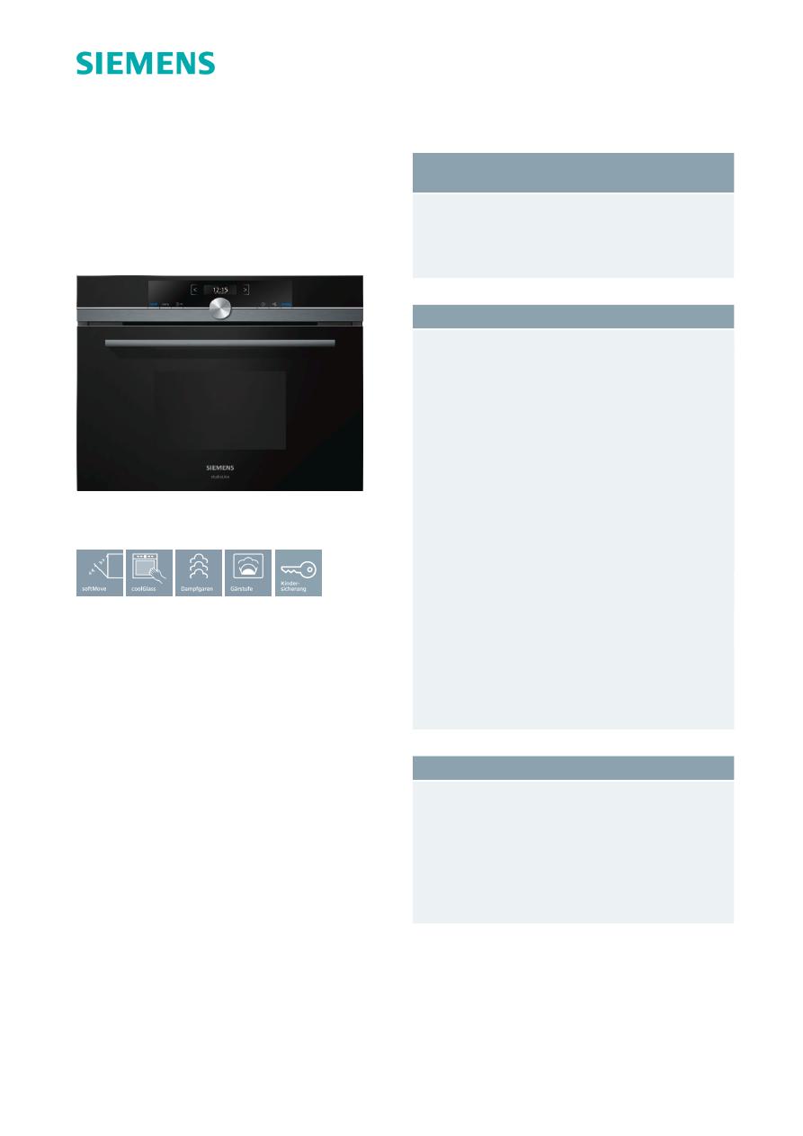 Gebrauchsinformation Datenblatt Zu Siemens Iq700 Cd834gbb1