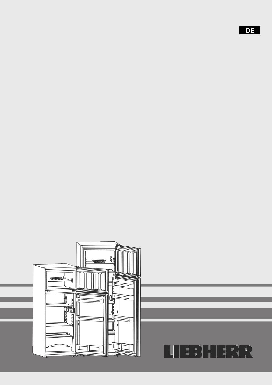 Gebrauchsinformation Datenblatt Zu Liebherr CTP 2921 Comfort Weiss