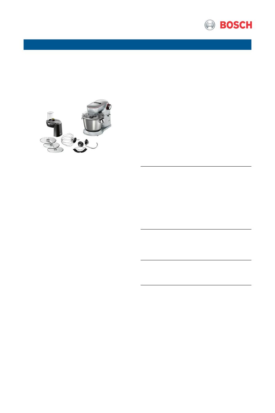 Gebrauchsinformation Datenblatt Zu Bosch Mum9d64s11 Optimum Test