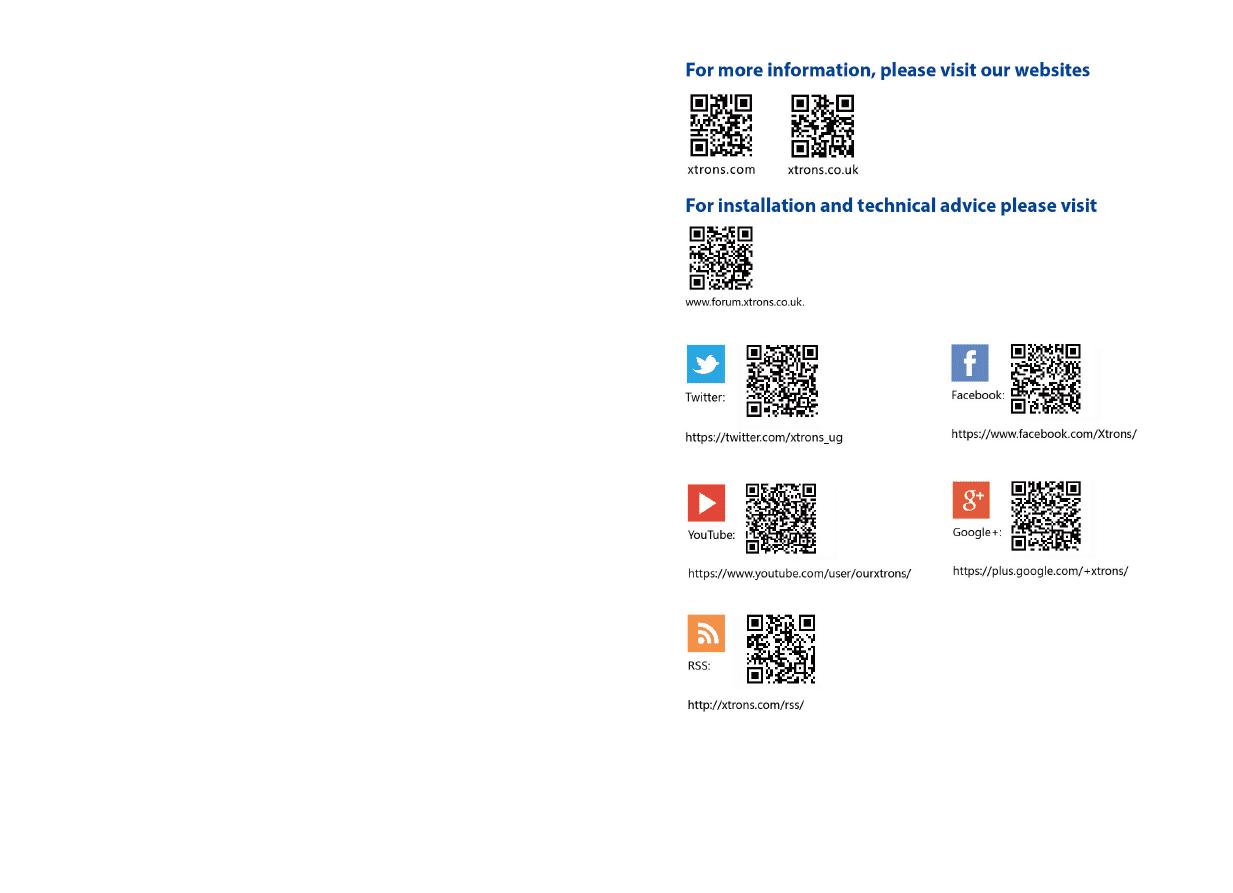 Gebrauchsinformation / Datenblatt zu Xtrons PA77QSFP-S