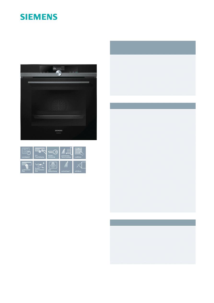 Gebrauchsinformation Datenblatt Zu Siemens Iq700 Hm876g2b6