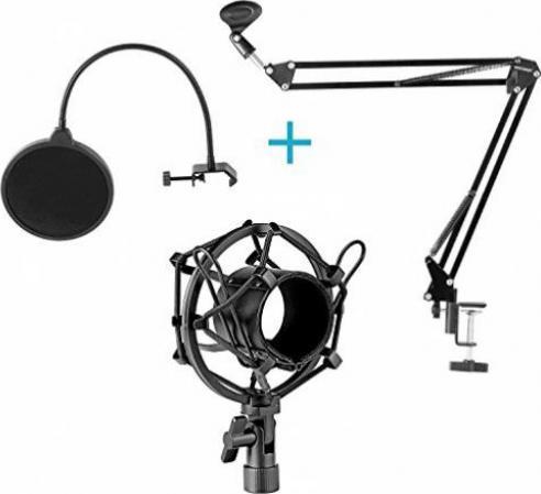 Schwarzen Flexible Mic Mikrofon Zubehör Ständer Kunststoffklemme Clip Halter