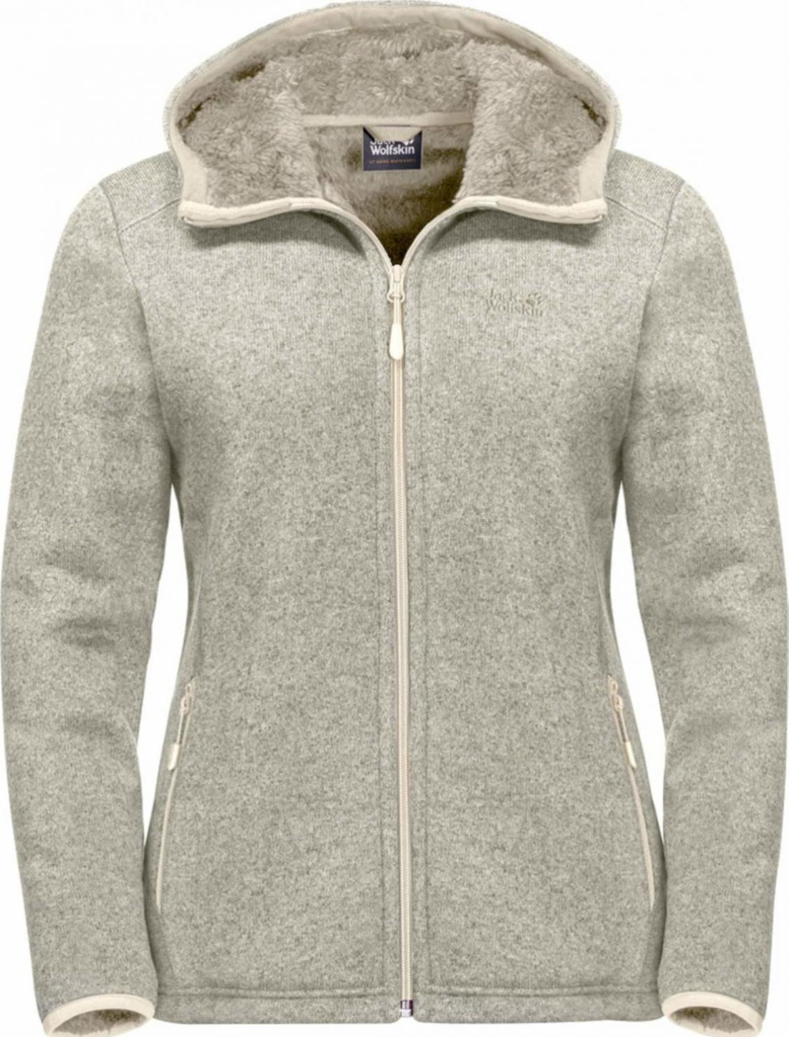 jack wolfskin milton fleecejacke damen light sand
