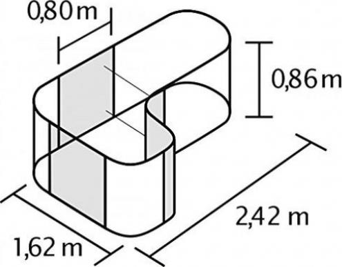 Pergart Vitavia Basic 858 Hochbeet Aluminium Blank Preisvergleich