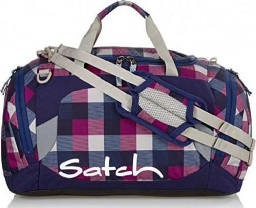 Satch Sporttasche Berry Carry Lila 966 karo lila blau