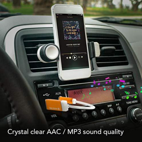 schnurloses Streamen von Musik Der kleinste Bluetooth-Receiver der Welt mit Einem 3,5mm AUX-Anschluss f/ür klares Auto-Pack, Pechschwarz Firefly