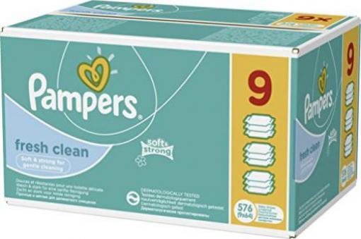 Pampers Feuchttücher fresh clean 5+1 x 64 = 384 Stück
