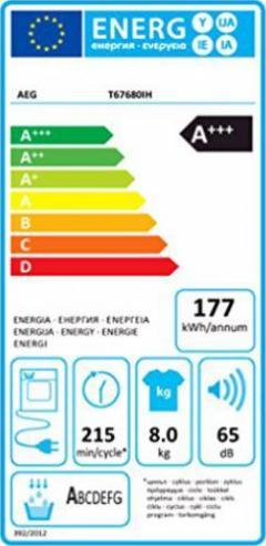 8 kg//ProTex Plus AEG-Electrolux LAVATHERM T67680IH W/ärmepumpentrockner//A+++ die schonendste Art zu trocknen//wei/ß
