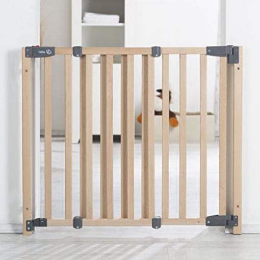 Treppengitter 70-118,5 cm Türgitter Höhe 83,5 cm Roba Holz Schutzgitter