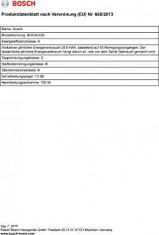 Bosch BGC4U330 Runn'n: Tests & Infos |
