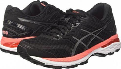 Asics GT-2000 5 black/carbon/flash coral (Damen)