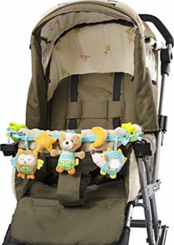 45cm Fehn 067682 Kinderwagenkette Krokodil L/änge Babyschale oder Kinderbett Mobile-Kette mit niedlichen Figuren zum Aufh/ängen an Kinderwagen Monaten F/ür Babys und Kleinkinder ab 0