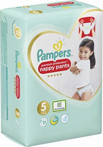 17 Windeln Pampers Premium Protection Pants Gr/ö/ße 5