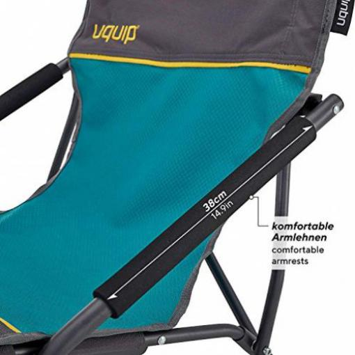 Strandstuhl Sandy XL Bequemer Klappstuhl mit Traglast bis 120 kg Wie Neu Uquip