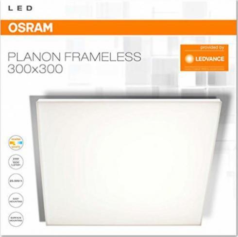 OSRAM 24-W-LED-Panel 295 x 295 mm rahmenlos Wand- und Deckenmontage warmweiß