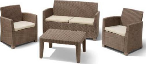 Jardin Allibert Corona 2er Couch Balkon Set Cappuccino
