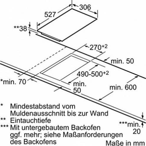 Kochfelder // 30,6 cm//Glaskeramik Elektro//Einbau Bosch PKF375FP1E Serie 6