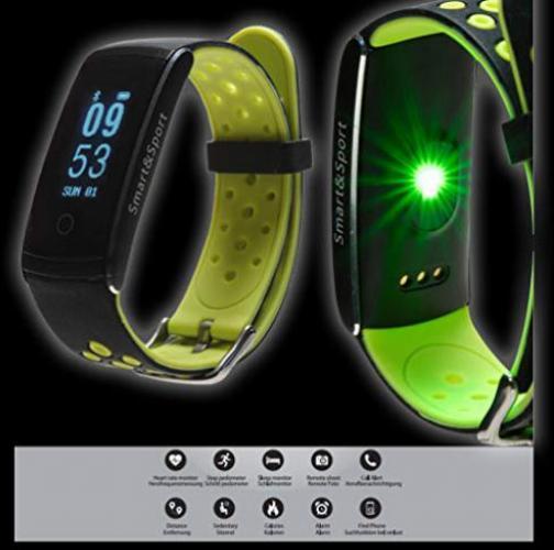 """DENVER BFH13 Fitness Tracker Herzfrequenz Schrittzähler Schlafmonitor /""""wie neu/"""""""