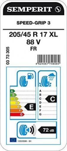 PKW /& SUV Winterreifen E//C//72 Semperit SPEED-GRIP 3-215//55 R16 97H XL