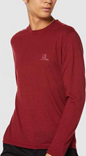 Salomon Explore LS Tee Shirt langarm biking red (Herren)