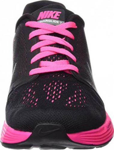 Nike Lunarglide 7 Knit Jacquard blackwhitepink powmetallic silver (Junior)