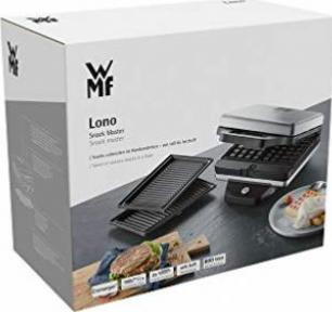 0415420011 WMF Lono 2in1 Snack Master Sandwichmaker 800 W, Waffeleisen, 2 abnehmbare Plattensets, antihaftbeschichtet