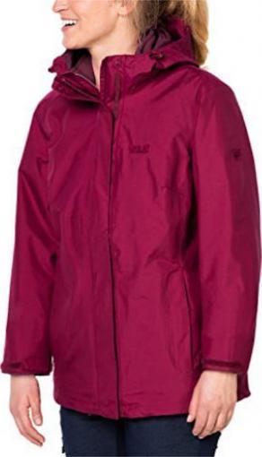 Jack Wolfskin Iceland 3in1 Jacke dark ruby (Damen)