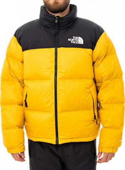 Mens 1996 Retro Nuptse Jacket Zinnia Orange Apparel