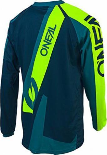ONeal Element FR Jersey Grün Grau MTB AM Mountain Bike Shirt Fahrrad Freeride DH